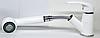 Смеситель белый для кухни с выдвижным душем для гранитной каменной мойки AQUAMARIN ARES 24-17 WH, фото 3