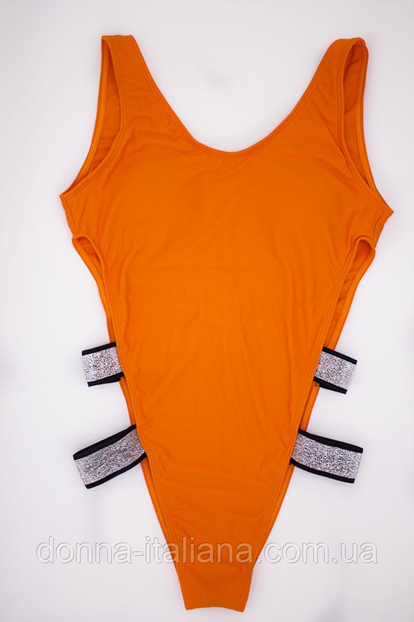 Купальник сдельный женский Lux4ika S Оранжевый (nr1-291)
