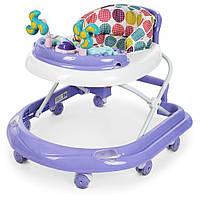 Детские складные Ходунки El Camino Dolphin Violet: противоударный бампер, игровая панель, фиолет. 70х50х56см
