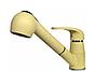 Смеситель кухонный бежевый с выносным шлангом и душем для гранитной мойки AQUAMARIN ARES 24-17 BG, фото 2