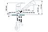 Смеситель кухонный бежевый с выносным шлангом и душем для гранитной мойки AQUAMARIN ARES 24-17 BG, фото 4