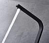 Квадратный высокий черный смеситель для кухни с картриджем для гранитной мойки AQUAMARIN BLADE 360 NERO, фото 4