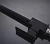 Квадратный высокий черный смеситель для кухни с картриджем для гранитной мойки AQUAMARIN BLADE 360 NERO, фото 5