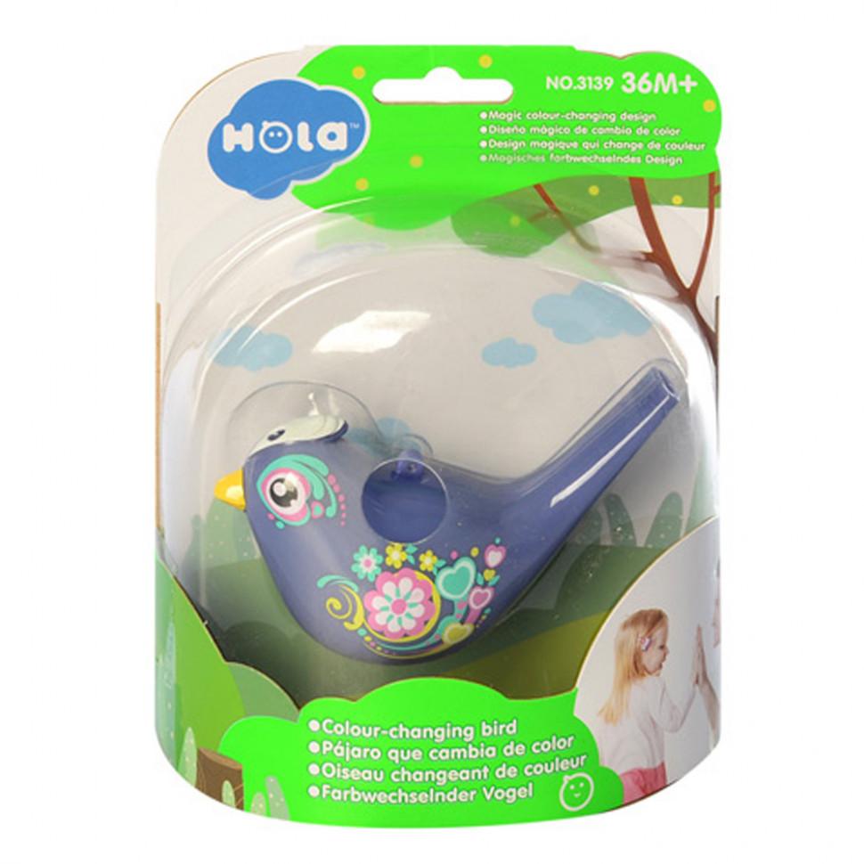 Свисток птичка для детей синий
