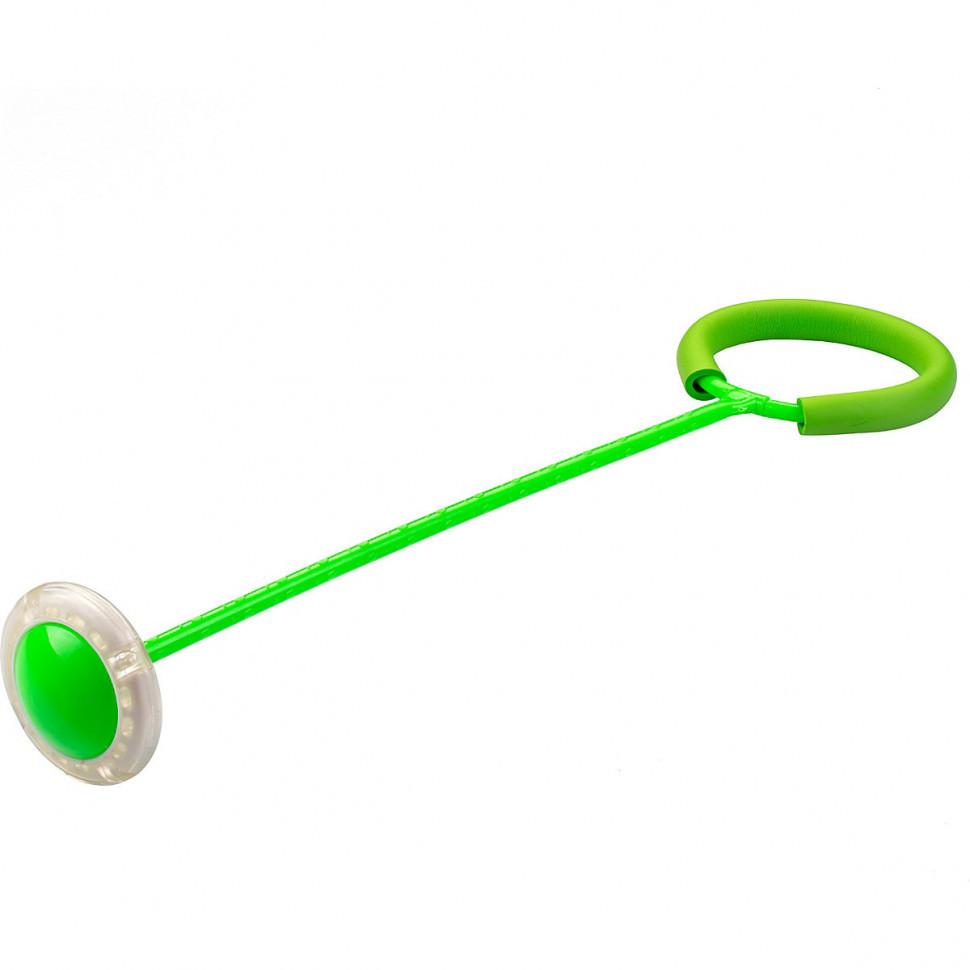 Скакалка на одну ногу зелена з підсвічуванням