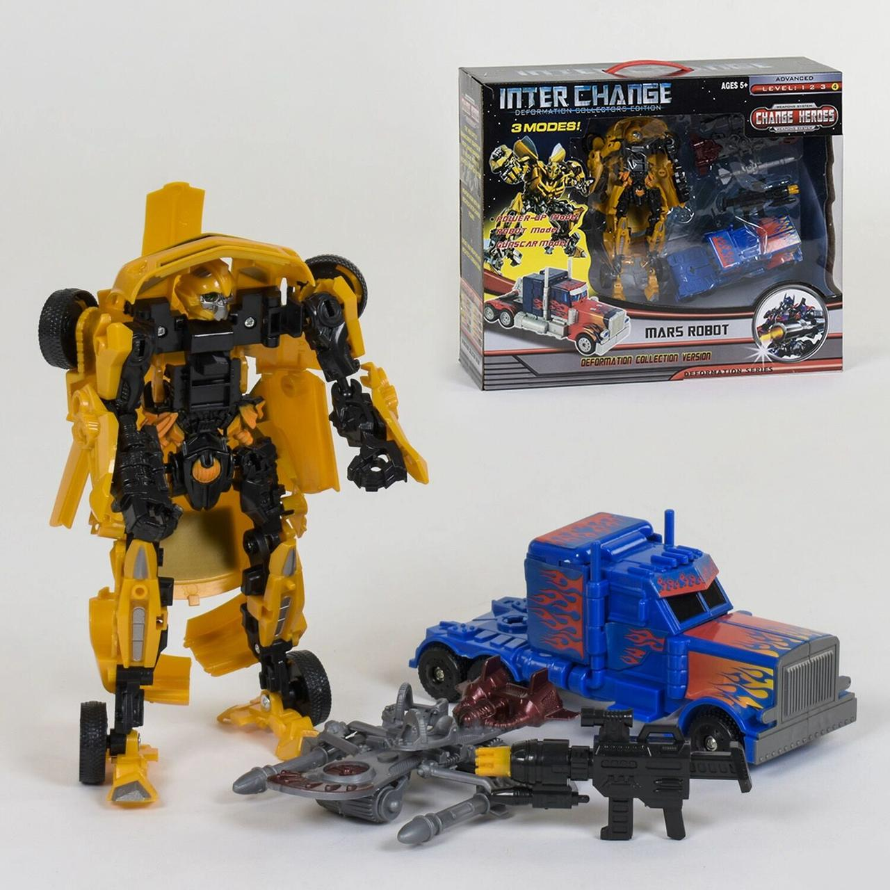 Игровой набор трансформеров 4096 с аксессуарами (2 робота в наборе)