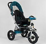Трехколесный велосипед с поворотным сиденьем Best Trike 698 / 30-505, НАДУВНЫЕ КОЛЕСА, с фарой, фото 2