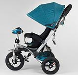 Трехколесный велосипед с поворотным сиденьем Best Trike 698 / 30-505, НАДУВНЫЕ КОЛЕСА, с фарой, фото 3