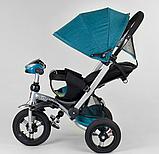 Трехколесный велосипед с поворотным сиденьем Best Trike 698 / 30-505, НАДУВНЫЕ КОЛЕСА, с фарой, фото 4