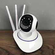 IP камера видеонаблюдения WiFi 380 Pro автономная для дома поворотная панорамна вай фай видеокамера p2p smart