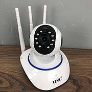 IP камера видеонаблюдения WiFi UKC Q6 автономная для дома поворотная панорамна вай фай видеокамера p2p smart