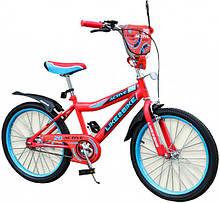 Двоколісний дитячий велосипед 20 дюймів Like2bike Active 192026 Червоний з дзвінком,підніжкою і дзеркалом