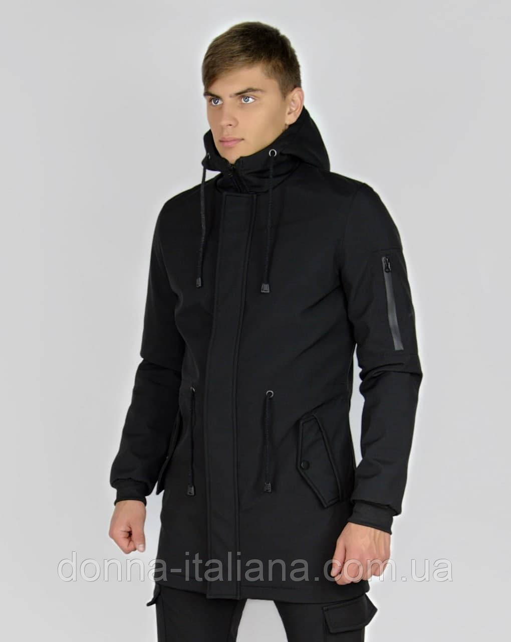 Куртка Intruder Softshell V2.0 чорна ХХL (1604481427/4)