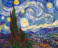 Картина по номерам рисование Ван Гог. Ночь E135 Вектор 40х50см в коробке, расскраска по номерам репродукция