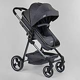 Детская коляска универсальная 2 в 1 JOY Naomi 96471 Серый, сумка, футкавер, фото 4