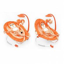 Дитячий шезлонг гойдалка для малюка BT-BB-0002 ORANGE