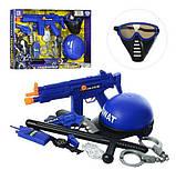 Игровой набор полицейского LimoToy 33540 с каской, автоматом, рацией, наручниками, пистолетом и дубинкой, фото 2