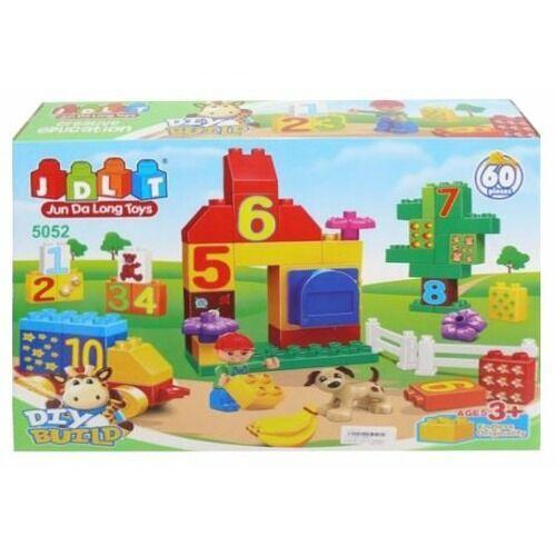 """Конструктор JDLT 5052 (Аналог Lego Duplo) """"Животные"""" 60 деталей"""