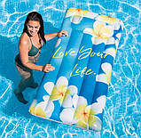 Пляжний надувний матрац - пліт з підголовником Intex 58772 EU «Натхнення», 178*84 см, 3 види, фото 6