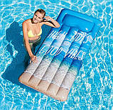 Пляжний надувний матрац - пліт з підголовником Intex 58772 EU «Натхнення», 178*84 см, 3 види, фото 8