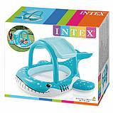 Детский надувной бассейн «Кит» Intex 57125 с навесом на 120 литров (211*185*109 см), фото 2