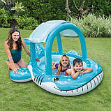 Детский надувной бассейн «Кит» Intex 57125 с навесом на 120 литров (211*185*109 см), фото 3