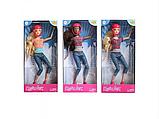 Шарнірна Лялька DEFA 8375-BF з рожевим скейтом і захисним шоломом, фото 6