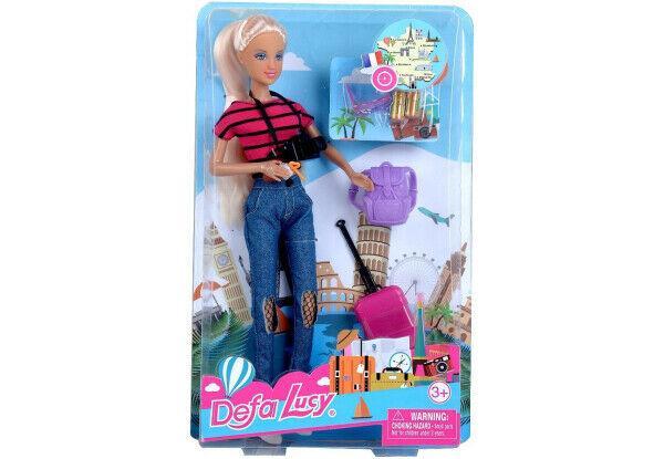 Кукла Defa 8389 путешественница с фотоаппаратом