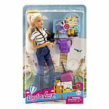 Кукла Defa 8389 путешественница с фотоаппаратом, фото 3