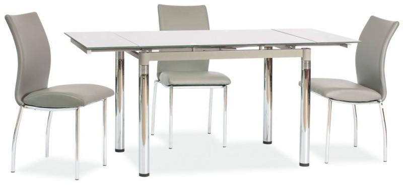 Стол обеденный Signal Мебель GD-018 110(170) х 74 см Серый (GD018S)