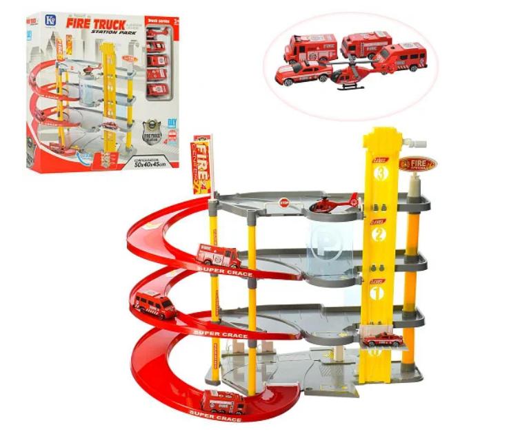 Ігровий набір гараж, паркінг для дитини, Пожежна частина 8802-5