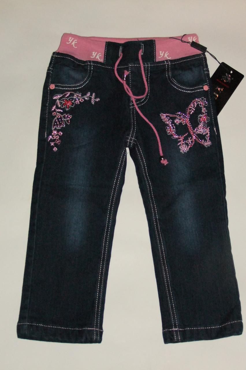 Штани джинсові на флісі на дівчинку