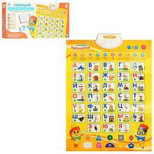 Навчальний плакат для дітей Говорить букваренок Limo Toy7002 RU