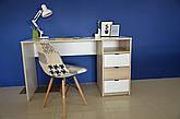 Комп'ютерний стіл Інтарсіо Sigma 1390х790 мм Біла перлина гладка + дуб скельний (SIGMA_R), фото 3