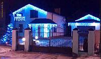 Новогодняя уличная светодиодная гирлянда бахрома-волна на 178 LED 3 метра длинны с висюльками  0.6 м., 0.5 м.