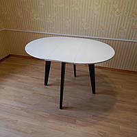 Дерев'яний стіл 900, круглий розкладний, фото 1