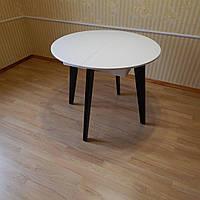 Стіл дерев'яний 900, круглий розкладний, фото 1