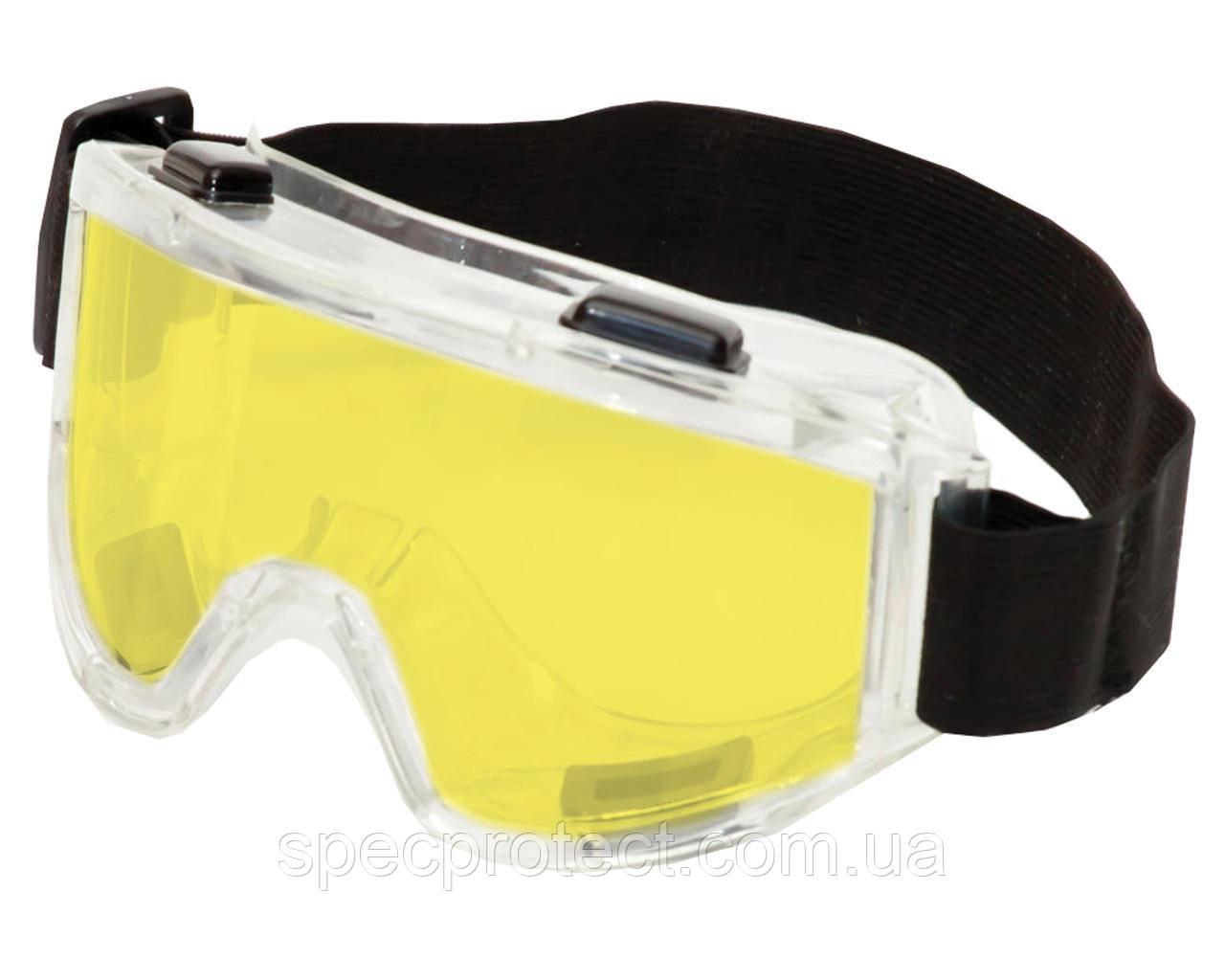 Окуляри захисні Vision Контраст+ лінза жовта з непрямою