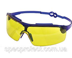 Окуляри захисні Драйвер жовті (поворотні подовжені дужки, лінза ПК, не потеющая, антицарапина)