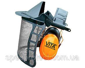 Щиток сетка VITA с наушниками 28 dB для триммера и лесоруба