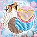 Многоразовая пеленка для собак круглая диаметр  Ø70 см непромокаемая розовый, фото 2