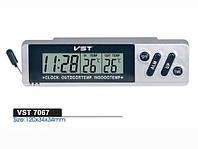 Автомобильные часы с термометром vst-7067, фото 1