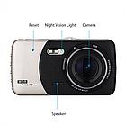 """Автомобильный видеорегистратор X600 1080 Full HD 4"""" 2 камеры, фото 3"""