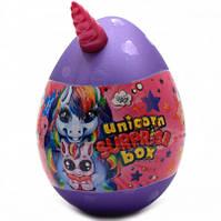 Игровой набор Данко Тойс «Unicorn Surprise Box» Яйцо единорога, фиолетовое, украинский язык, 30х20 см (USB-01-01U)