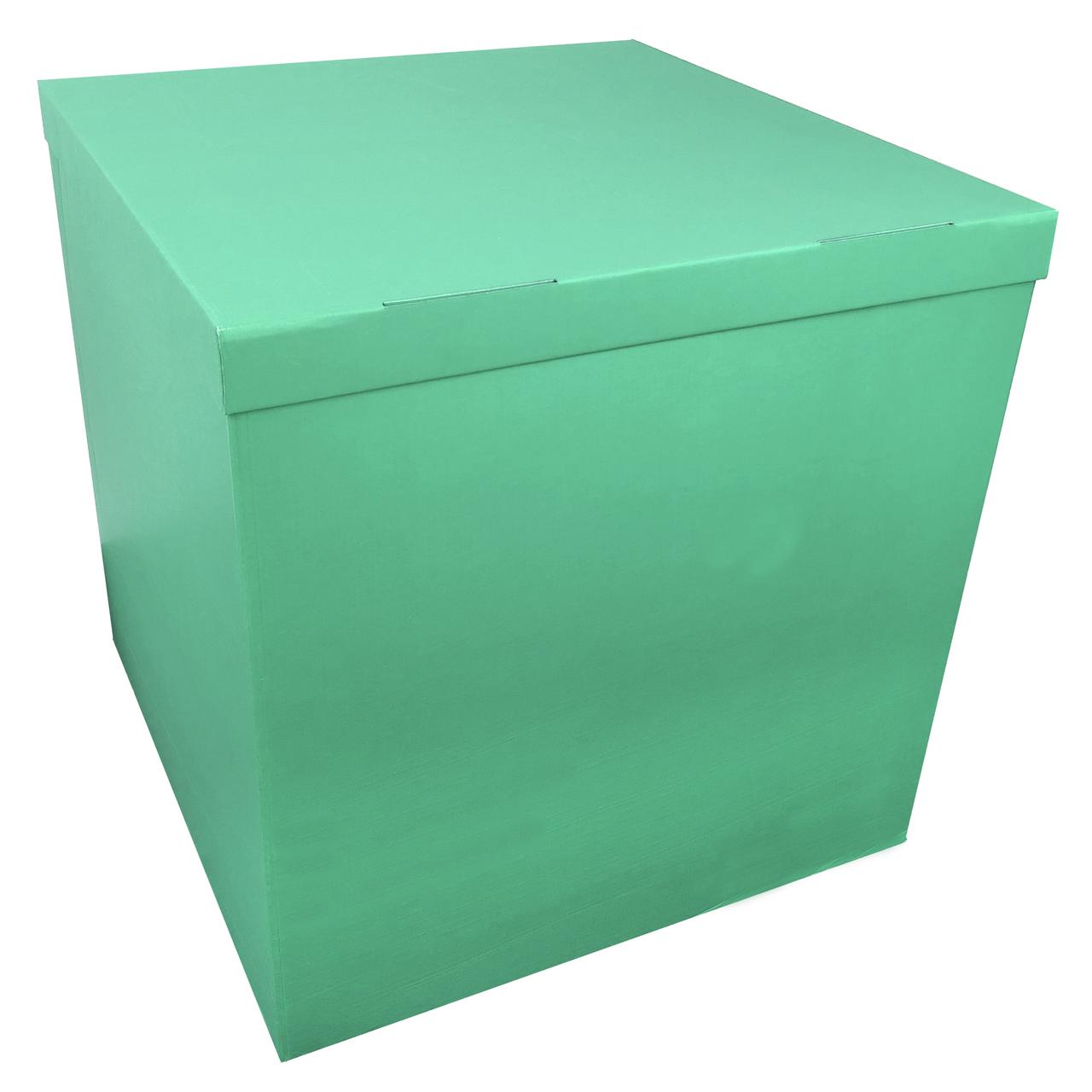 Коробка для шаров 70*70*70см двухсторонняя ментол