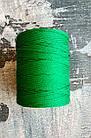 Полиэфирный шнур без сердечника 2мм Зеленый, фото 2