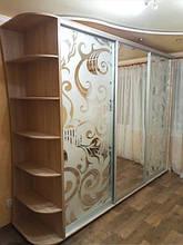 Шкаф купе 2 зеркала + 2 фото + консоль