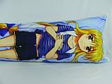 Подушка обнимашка Дакимакура 150 х 50 Фате для обнимания аниме со съёмной наволочкой односторонняя, фото 3