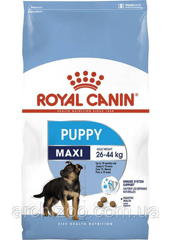 Royal Canin Maxi Puppy 20 кг для щенков крупных пород до 15 месяцев, фото 2