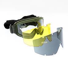 Очки тактические MIL-TEC Brille Olive,15615701
